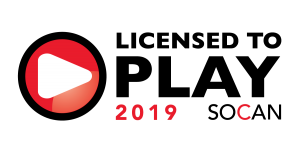 Licensed to Play 2019 SOCAN
