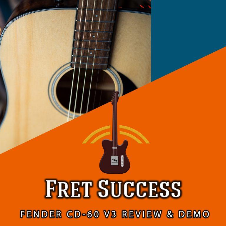 Fender CD-60 V3 Dreadnought Acoustic 2021 Review & Demo